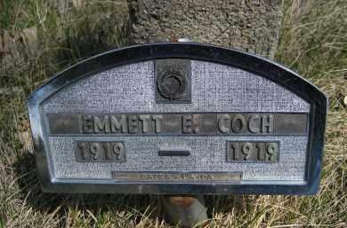 COCH, EMMETT E. - Sheridan County, Nebraska | EMMETT E. COCH - Nebraska Gravestone Photos