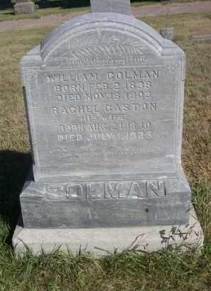 GASTON COLMAN, RACHEL - Sheridan County, Nebraska | RACHEL GASTON COLMAN - Nebraska Gravestone Photos