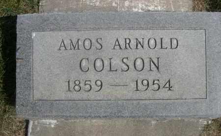 COLSON, AMOS ARNOLD - Sheridan County, Nebraska   AMOS ARNOLD COLSON - Nebraska Gravestone Photos