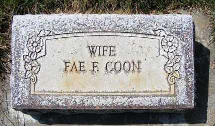 COON, FAE F. - Sheridan County, Nebraska | FAE F. COON - Nebraska Gravestone Photos