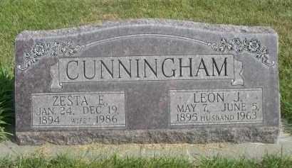 CUNNINGHAM, LEON J. - Sheridan County, Nebraska   LEON J. CUNNINGHAM - Nebraska Gravestone Photos