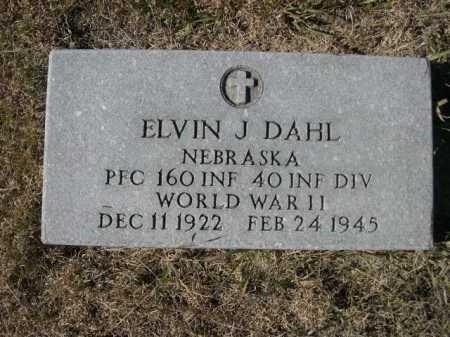 DAHL, ELVIN J. - Sheridan County, Nebraska | ELVIN J. DAHL - Nebraska Gravestone Photos