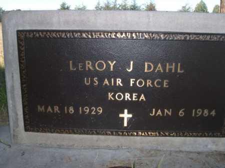 DAHL, LEROY - Sheridan County, Nebraska   LEROY DAHL - Nebraska Gravestone Photos