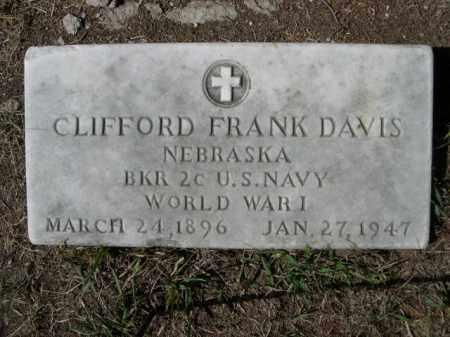 DAVIS, CLIFFORD FRANK - Sheridan County, Nebraska | CLIFFORD FRANK DAVIS - Nebraska Gravestone Photos