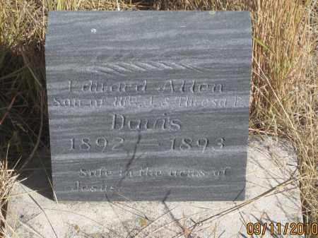 DAVIS, EDWARD  ALLEN - Sheridan County, Nebraska   EDWARD  ALLEN DAVIS - Nebraska Gravestone Photos