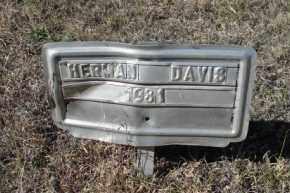 DAVIS, HERMAN - Sheridan County, Nebraska | HERMAN DAVIS - Nebraska Gravestone Photos