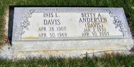DAVIS, INIS L. - Sheridan County, Nebraska | INIS L. DAVIS - Nebraska Gravestone Photos