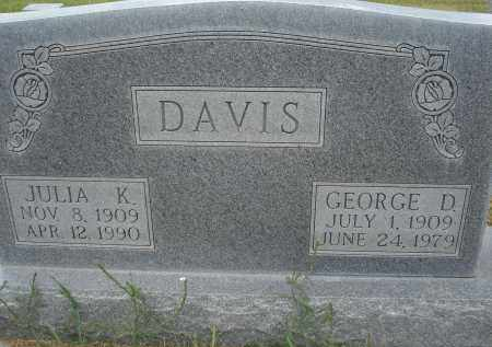 DAVIS, GEORGE D. - Sheridan County, Nebraska | GEORGE D. DAVIS - Nebraska Gravestone Photos
