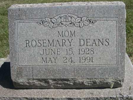 DEANS, ROSEMARY - Sheridan County, Nebraska | ROSEMARY DEANS - Nebraska Gravestone Photos
