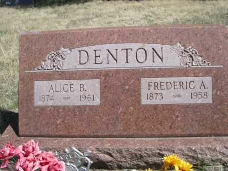 DENTON, ALICE B. - Sheridan County, Nebraska | ALICE B. DENTON - Nebraska Gravestone Photos