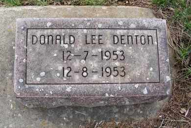 DENTON, DONALD LEE - Sheridan County, Nebraska | DONALD LEE DENTON - Nebraska Gravestone Photos