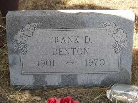 DENTON, FRANK D. - Sheridan County, Nebraska | FRANK D. DENTON - Nebraska Gravestone Photos
