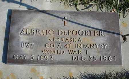 DEPOORTER, ALBERIC - Sheridan County, Nebraska | ALBERIC DEPOORTER - Nebraska Gravestone Photos