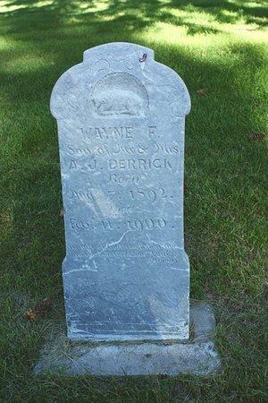 DERRICK, WAYNE F. - Sheridan County, Nebraska   WAYNE F. DERRICK - Nebraska Gravestone Photos