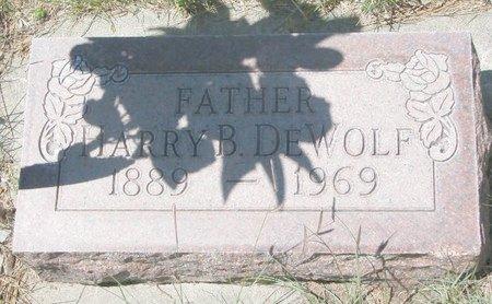 DEWOLF, HARRY BENSON - Sheridan County, Nebraska | HARRY BENSON DEWOLF - Nebraska Gravestone Photos