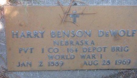 DEWOLF, HARRY BENSON (MILITARY) - Sheridan County, Nebraska | HARRY BENSON (MILITARY) DEWOLF - Nebraska Gravestone Photos