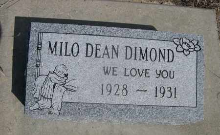 DIAMOND, MILO DEAN - Sheridan County, Nebraska | MILO DEAN DIAMOND - Nebraska Gravestone Photos