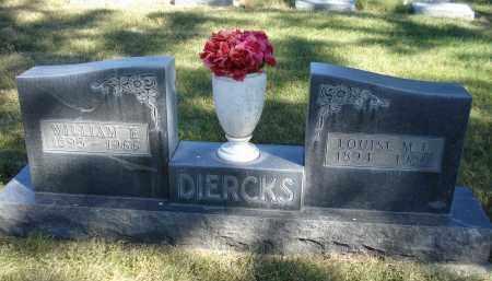 DIERCKS, WILLIAM E. - Sheridan County, Nebraska   WILLIAM E. DIERCKS - Nebraska Gravestone Photos