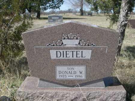 DIETEL, DONALD W. - Sheridan County, Nebraska | DONALD W. DIETEL - Nebraska Gravestone Photos