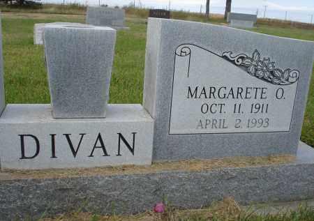 DIVAN, MARGARETE O. - Sheridan County, Nebraska | MARGARETE O. DIVAN - Nebraska Gravestone Photos