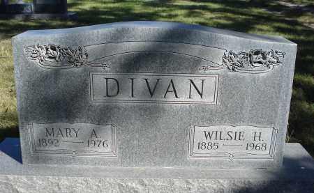 DIVAN, MARY A. - Sheridan County, Nebraska | MARY A. DIVAN - Nebraska Gravestone Photos