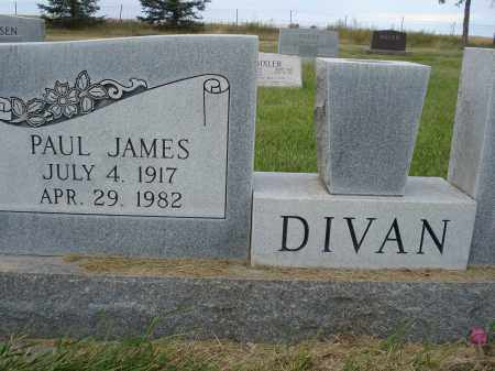DIVAN, PAUL JAMES - Sheridan County, Nebraska | PAUL JAMES DIVAN - Nebraska Gravestone Photos