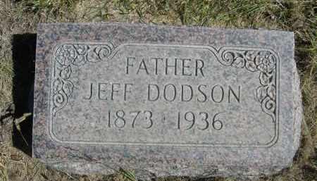 DODSON, JEFF - Sheridan County, Nebraska | JEFF DODSON - Nebraska Gravestone Photos