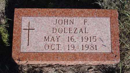 DOLEZAL, JOHN F. - Sheridan County, Nebraska | JOHN F. DOLEZAL - Nebraska Gravestone Photos