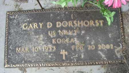 DORSHORST, GARY D. - Sheridan County, Nebraska | GARY D. DORSHORST - Nebraska Gravestone Photos