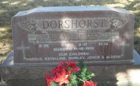 DORSHORST, THEODORE B. - Sheridan County, Nebraska | THEODORE B. DORSHORST - Nebraska Gravestone Photos