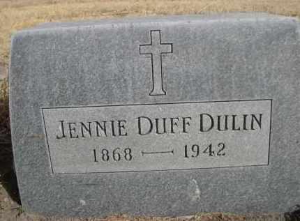 DUFF DULIN, JENNIE - Sheridan County, Nebraska   JENNIE DUFF DULIN - Nebraska Gravestone Photos
