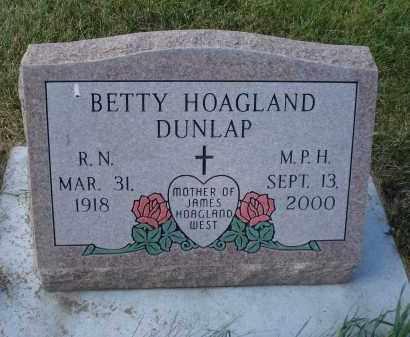 DUNLAP, BETTY - Sheridan County, Nebraska | BETTY DUNLAP - Nebraska Gravestone Photos