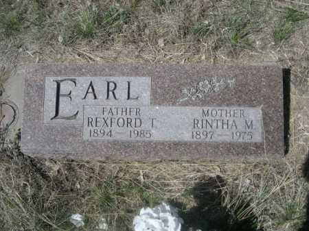 EARL, REXFORD T. - Sheridan County, Nebraska | REXFORD T. EARL - Nebraska Gravestone Photos