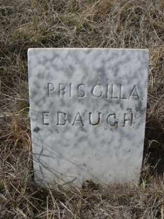 EBAUGH, PRISCILLA - Sheridan County, Nebraska | PRISCILLA EBAUGH - Nebraska Gravestone Photos