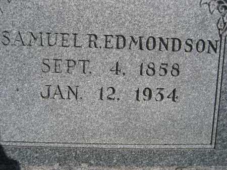 EDMONDSON, SAMUEL R. - Sheridan County, Nebraska | SAMUEL R. EDMONDSON - Nebraska Gravestone Photos