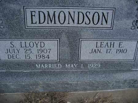 EDMONDSON, S LLOYD - Sheridan County, Nebraska | S LLOYD EDMONDSON - Nebraska Gravestone Photos
