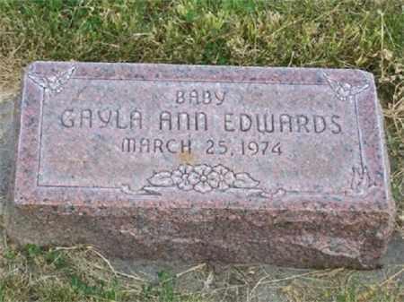 EDWARDS, GAYLA ANN - Sheridan County, Nebraska | GAYLA ANN EDWARDS - Nebraska Gravestone Photos