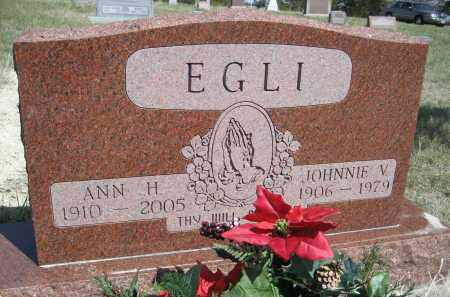 EGLI, JOHNNIE V. - Sheridan County, Nebraska | JOHNNIE V. EGLI - Nebraska Gravestone Photos