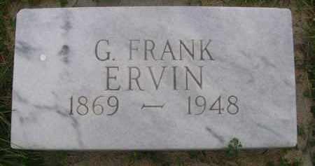 ERVIN, G. FRANK - Sheridan County, Nebraska   G. FRANK ERVIN - Nebraska Gravestone Photos