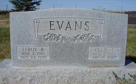 EVANS, OLLIE T. - Sheridan County, Nebraska | OLLIE T. EVANS - Nebraska Gravestone Photos