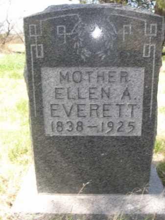 EVERETT, ELLEN A. - Sheridan County, Nebraska | ELLEN A. EVERETT - Nebraska Gravestone Photos