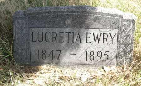 EWRY, LUCRETIA - Sheridan County, Nebraska | LUCRETIA EWRY - Nebraska Gravestone Photos