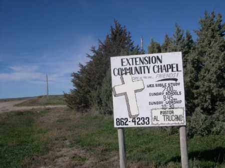 *EXTENSION CEMETERY, SIGN FOR CHAPEL NEARBY - Sheridan County, Nebraska | SIGN FOR CHAPEL NEARBY *EXTENSION CEMETERY - Nebraska Gravestone Photos
