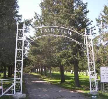 *FAIRVIEW CEMETERY, ENTRANCE TO - Sheridan County, Nebraska | ENTRANCE TO *FAIRVIEW CEMETERY - Nebraska Gravestone Photos