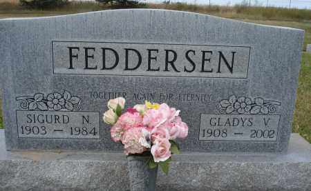 FEDDERSEN, GLADYS V. - Sheridan County, Nebraska | GLADYS V. FEDDERSEN - Nebraska Gravestone Photos