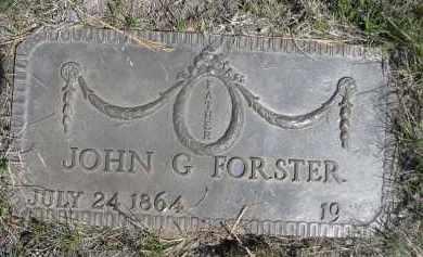 FORSTER, JOHN G. - Sheridan County, Nebraska | JOHN G. FORSTER - Nebraska Gravestone Photos