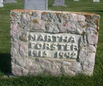 FORSTER, MARTHA - Sheridan County, Nebraska | MARTHA FORSTER - Nebraska Gravestone Photos