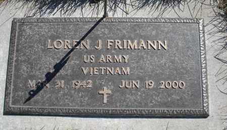 FRIMANN, LOREN J. - Sheridan County, Nebraska | LOREN J. FRIMANN - Nebraska Gravestone Photos
