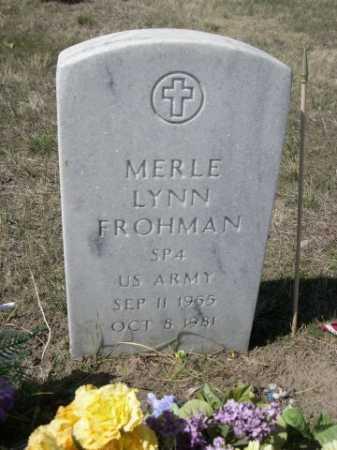 FROHMAN, MERLE LYNN - Sheridan County, Nebraska | MERLE LYNN FROHMAN - Nebraska Gravestone Photos