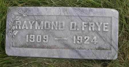 FRYE, RAYMOND O. - Sheridan County, Nebraska | RAYMOND O. FRYE - Nebraska Gravestone Photos